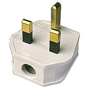 13 Amp rated mains power plug