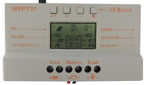 30 Amp MPPT solar charge controller with LCD