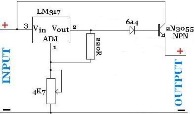 lm317 adjustable power supply reuk co ukhight current power supply with lm317t and an npn power transistor