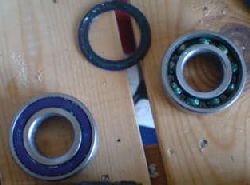 Bearings used in DIY savonius wind turbine