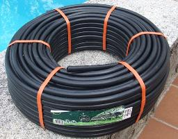 Black hosepipe to be used in a solar water heating system for a swimming pool - solar collector