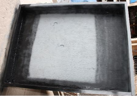 Box for solar water heating panel