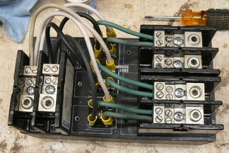Completed Bridge Rectifier for Wind Turbine System. Three phase AC converted to direct current (DC).