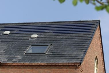 C21 solar roof tiles in action. 2kW system over 20 square metres of roof