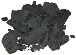 Charcoal - made by partially burning wood in an oxygen-poor atmosphere