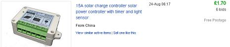 Cheap solar charge controller from China - 15 Amp 12V rated
