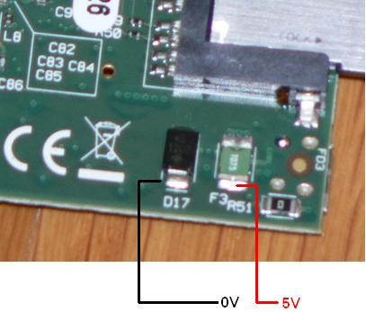 Direct connection of 5V to Raspberry Pi without micro-USB connector