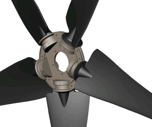 FuturEnergy 1kW Upwind Turbine Hub and Blades