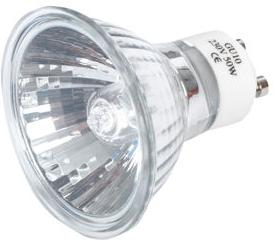 Typical 50W halogen bulb from a Spotlight