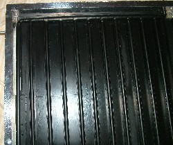 Heat resistant black paint used to cover the heat sink (solar collector) to maximise absorption