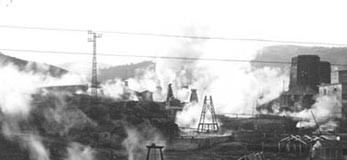 Larderello Geothermal Power Station in 1917