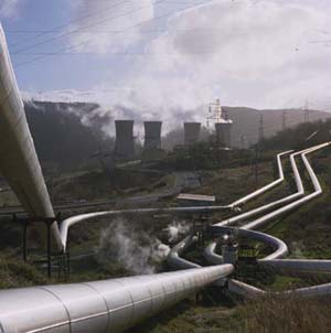 Larderello Geothermal Power Station, Italy