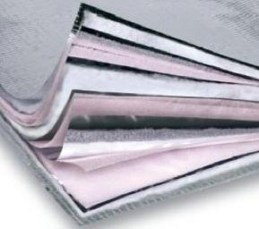 Multi layer foil insulation for solar water heating panel