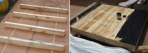 Turning the timber from pallets into a solar collector