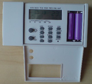 Programmable thermostat used as a 12V timer