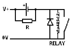 Reduce relay holding current