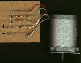 A stepper motor rectified simply using 4 diodes