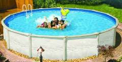 Swimming pool disinfected with chlorine