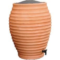 Terracotta style garden water butt