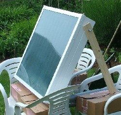 Testing the solar collector