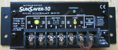 Morningstar SunSaver 10 Amp at 12 Volt solar charge controller