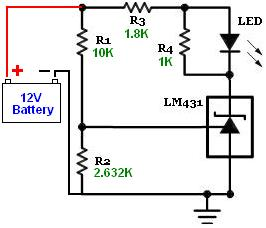 Tl431 Battery Voltage Monitor