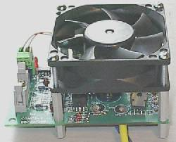 12V PC fan used to power greenhouse heatsink system