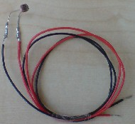 Light dependent resistor with long fitted leads