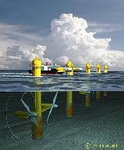 The proposed 10MW 10-turbine SeaGen Array - Tidal Turbines