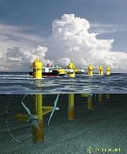 The proposed 10MW 10-turbine SeaGen Array - Tidal Turbines