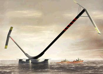 Aerogenerator X offshore 10MW wind turbine generator (artists impression)