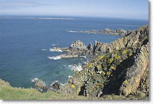 Alderney sea view. Potential for tidal power harvesting