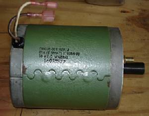 30 Volt DC Ametek Motor used as Generator