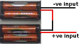 2 AAA battery holders wired in series