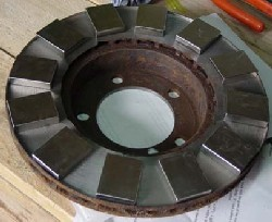Brake Disk Wind Turbine Rotor on 12 volt wind generator