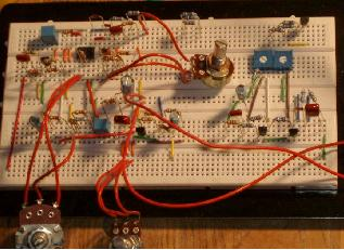 Breadboard used to prototype electronic circuits