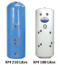 Buy a solar twin coil cylinder for solar water  heating