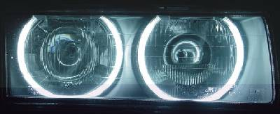 CCFL tubes used in the headlights of a BMW