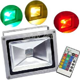 Remote control colour changing LED floodlight