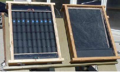 Comparing different types of solar air heater - drinks can versus screen collector