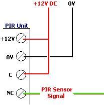 Connect the circuit to the PIR sensor