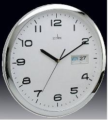 Day date quartz battery powered wall clock - used as elapsed timer