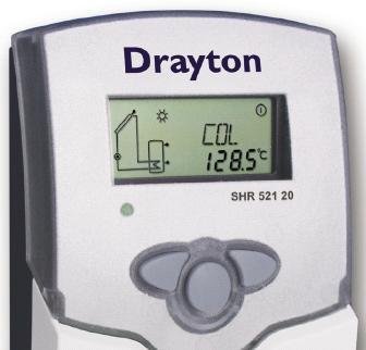 Drayton SHR 521 20 solar thermal controller display