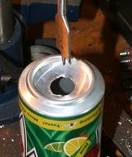Drill holes in the bottom of all of the other cans