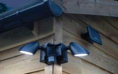 Duo Security Light Twin Spotlights - Smart Solar PIR