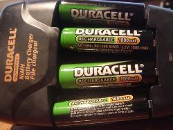 Duracell rechargeable NiMH AA batteries