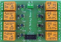 Relay board with eight relays