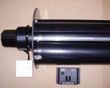 Envirotek V20 VAWT rotor and charge controller