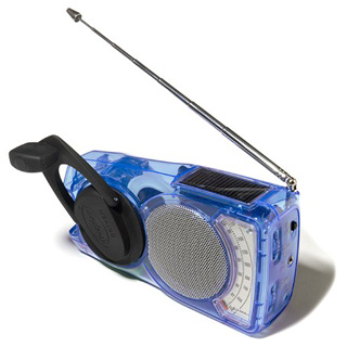 Freeplay EyeMax wind up and solar powered AM/FM radio