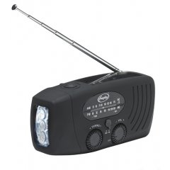 Freeplay companion wind-up and solar powered radio and torch